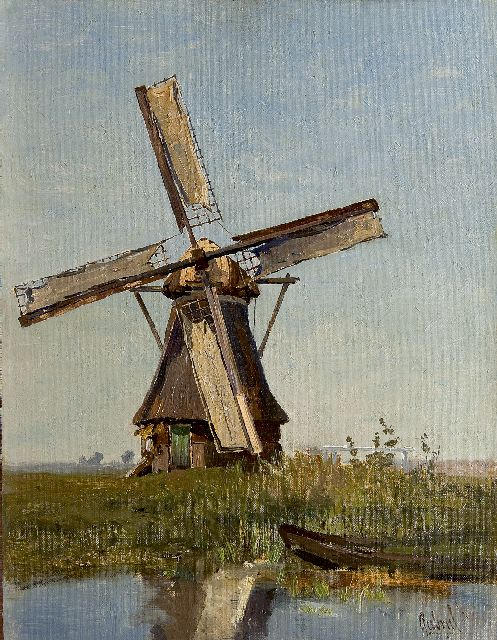 Paul Joseph Constantin Gabriel | The windmill, oil on canvas laid down on panel, 39.0 x 30.1 cm, signed l.r.