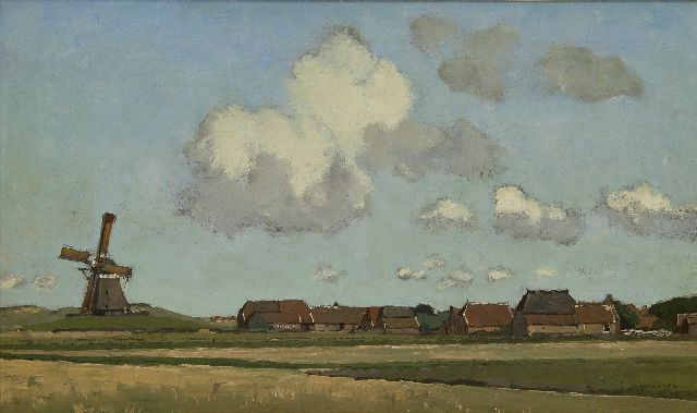Derk Wiggers | Ameland, oil on canvas, 38.1 x 63.3 cm, signed l.r.