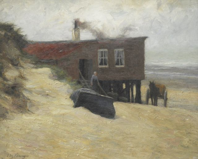 Farasijn E.  | The hotel Du Kursaal in De Panne, oil on canvas 45.7 x 56.2 cm, signed l.l. and painted before 1877