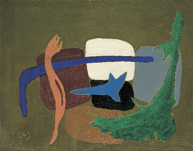 Claus C.  | Composition, oil on canvas 73.0 x 91.7 cm, signed l.l. with initials and dated '49