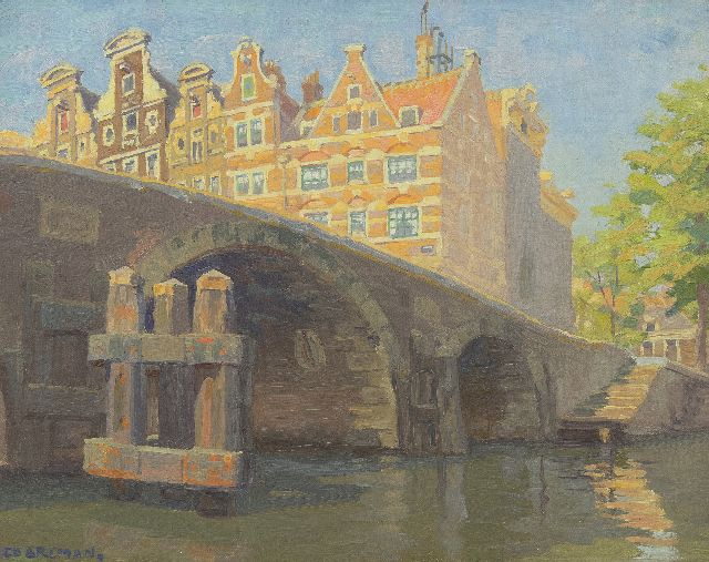 Co Breman | Corner Prinsengracht/Brouwersgracht, Amsterdam, oil on canvas, 30.4 x 38.7 cm, signed l.l.