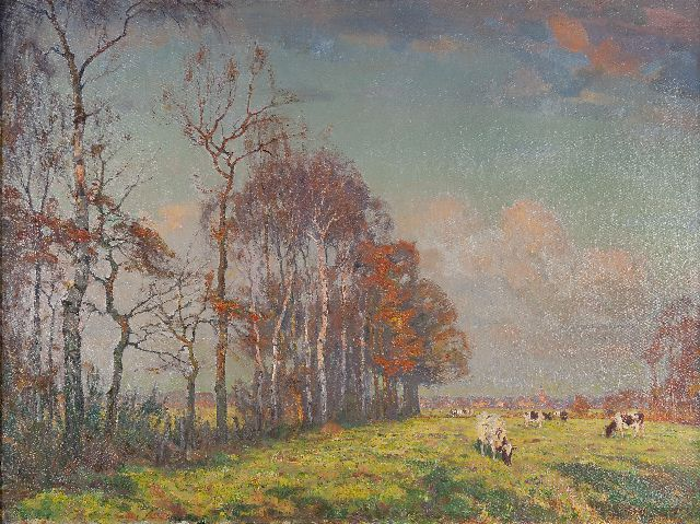 Johan Meijer | Afternoon sun, oil on canvas, 76.0 x 100.5 cm, signed l.r.