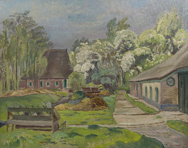 Dirk Filarski | Farms, oil on canvas, 80.0 x 100.5 cm, signed l.r. and dated 1942