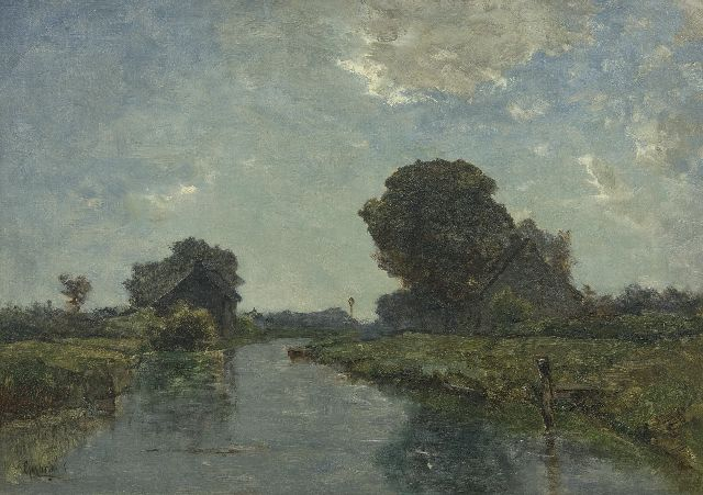 Paul Joseph Constantin Gabriel | A canal near Kortenhoef, oil on canvas, 38.8 x 54.8 cm, signed l.l.
