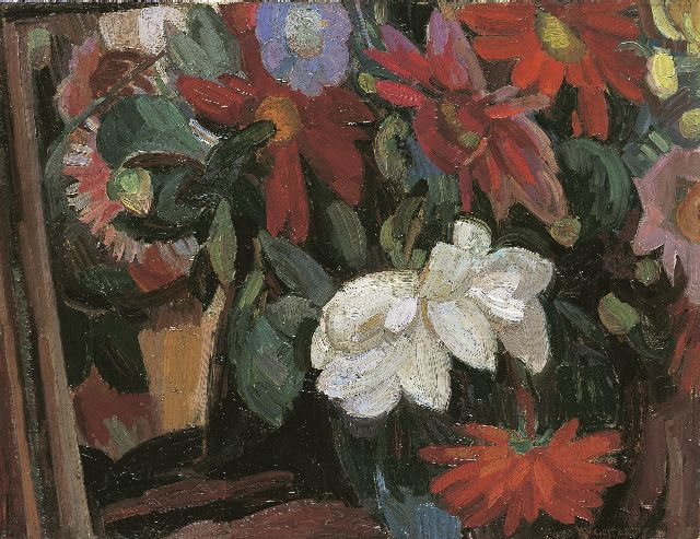 Leo Gestel | A flower stillife, oil on canvas, 41.3 x 53.4 cm, signed l.r. and dated '15