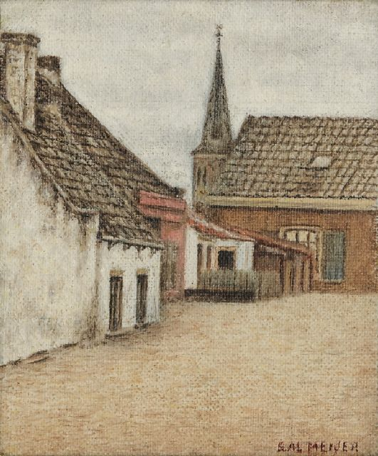 Sal Meijer | A village view (possibly Zandvoort), oil on canvas laid down on board, 14.5 x 11.3 cm, signed l.r.