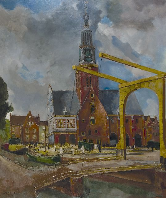 Germ de Jong | The Cheese market, Alkmaar, oil on canvas, 117.0 x 99.3 cm, signed l.l. and dated 1944