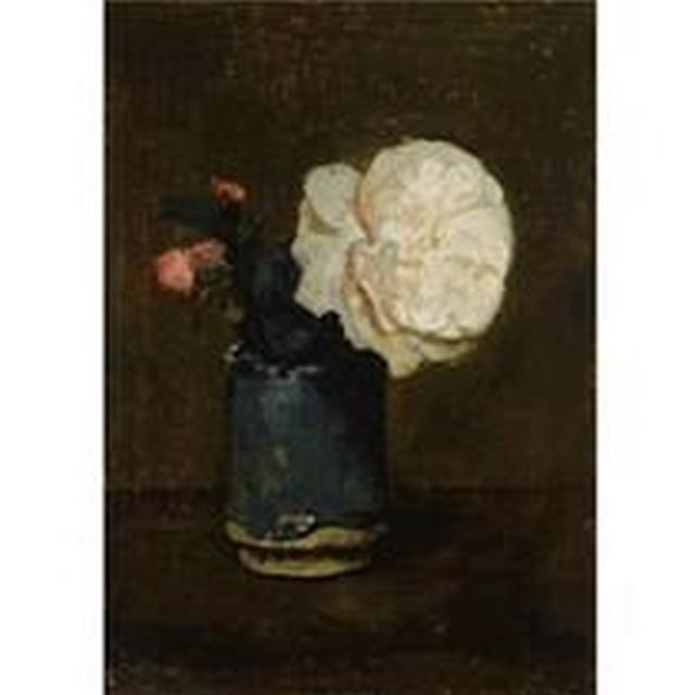 Floris Arntzenius | Roses in a green vase, oil on panel, 30.0 x 21.0 cm, signed l.l. and painted ca. 1915