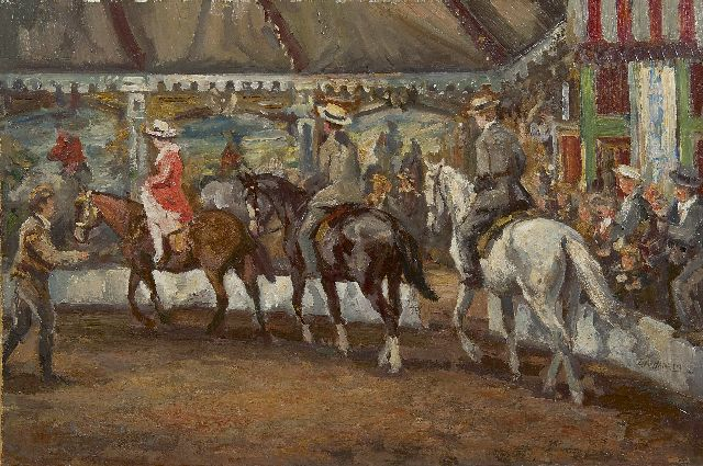 Dirk van Haaren | The hippodrome, oil on board, 34.0 x 50.0 cm, signed l.r.