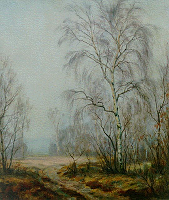 Johan Meijer | A misty morning, oil on canvas, 60.2 x 50.5 cm, signed l.l.