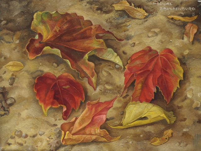 Machiel Brandenburg | Autumn leaves, oil on canvas, 18.6 x 24.3 cm, signed u.r. and dated 1948