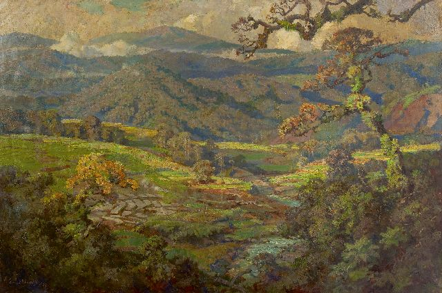 Ernest Dezentjé | Landscape in Indonesia, oil on canvas, 103.0 x 150.3 cm, signed l.l. and dated '48