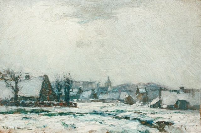 David Schulman | A snow-covered landscape, 18.5 x 26.8 cm, signed l.l.