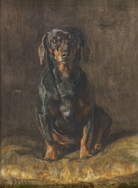Jan Zoetelief Tromp | Dachshund, watercolour on paper, 52.5 x 38.5 cm, signed l.r.