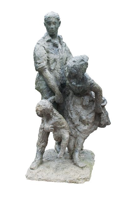 Bayens H.  | On to the sea, bronze 133.5 x 70.0 cm, conceived and cast in 1967