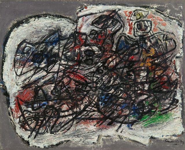 Corneille | La tribu erre…, oil on canvas, 50.0 x 61.1 cm, signed l.r. and dated '57
