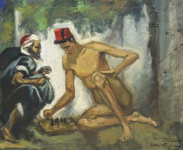 Piet van Wijngaerdt | Hommage à Delacroix, oil on canvas, 50.2 x 60.3 cm, signed l.r. and on the reverse