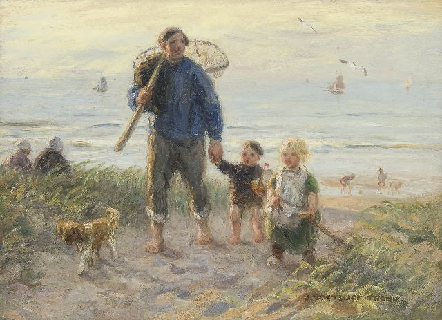 Jan Zoetelief Tromp | Homeward bound through the dunes, oil on canvas, 41.0 x 56.2 cm, signed l.r.
