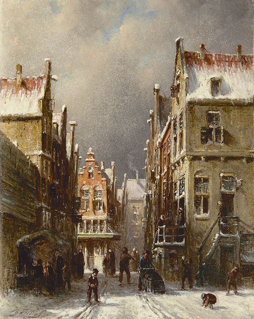 Petrus Gerardus Vertin | The Jewish quarter, Amsterdam, oil on panel, 23.2 x 18.3 cm, signed l.l. and dated '79