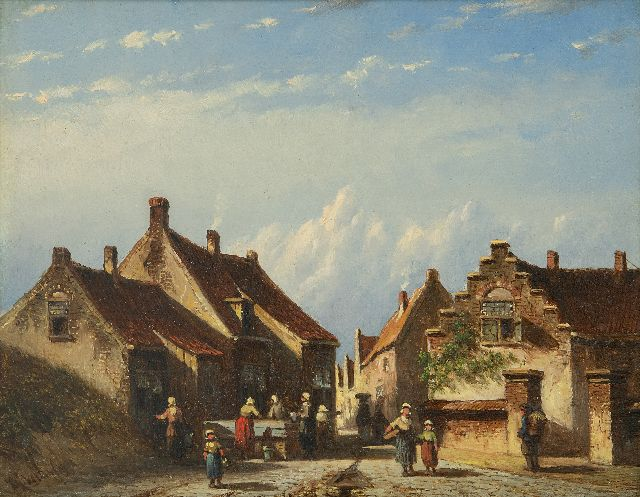 Petrus Gerardus Vertin | A village in the dunes in summer, oil on panel, 14.8 x 18.8 cm, signed l.l. and dated '59