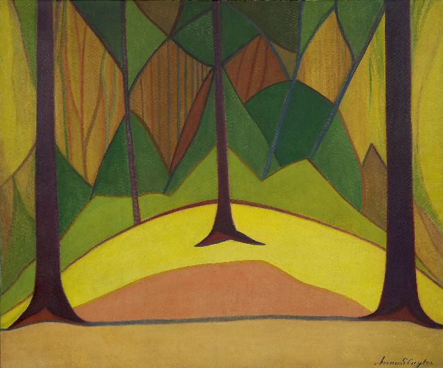 Sluijter J.J.H.  | Forest, oil on canvas 79.1 x 95.5 cm, signed l.r. and painted circa 1914