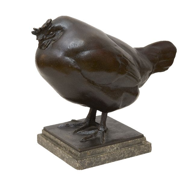 Zügel W.  | Sleeping rooster, bronze 23.5 x 12.5 cm, signed with the artist's stamp on the base