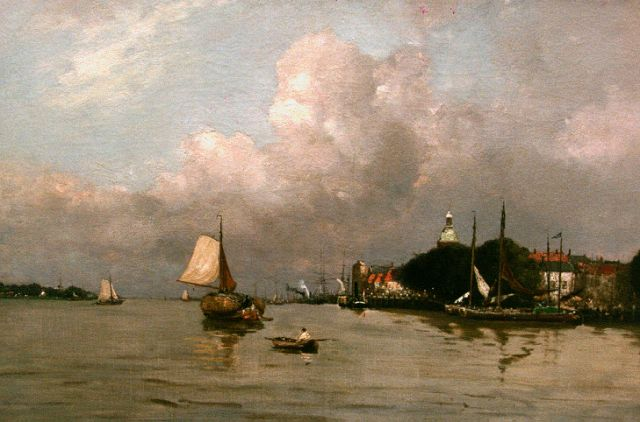 Louis Apol | A view of Dordrecht, oil on canvas, 55.3 x 80.4 cm, signed l.r.