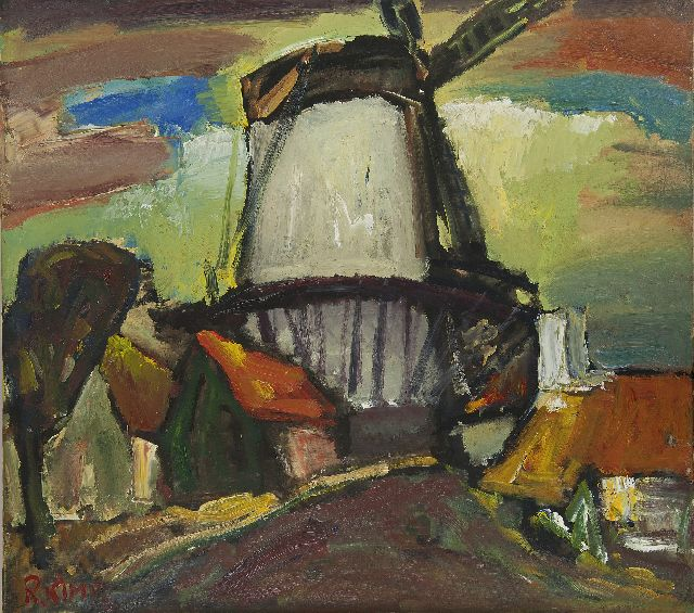 Reimond Kimpe | Windmill 'De Hoop' in Middelburg, oil on canvas, 80.3 x 90.5 cm, signed l.l. and dated '31