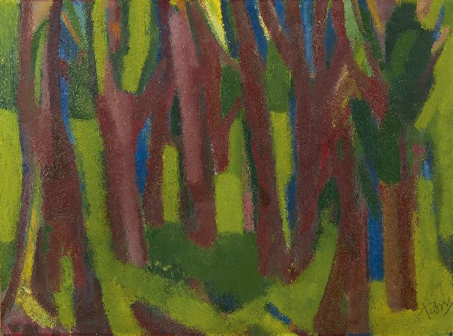 Gerrit Benner | Forest, oil on paper laid down on board, 56.3 x 75.7 cm, signed l.r. and painted ca. 1953