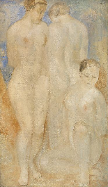 Kelder A.B.  | Three women, oil on canvas 157.5 x 92.6 cm, signed u.r.
