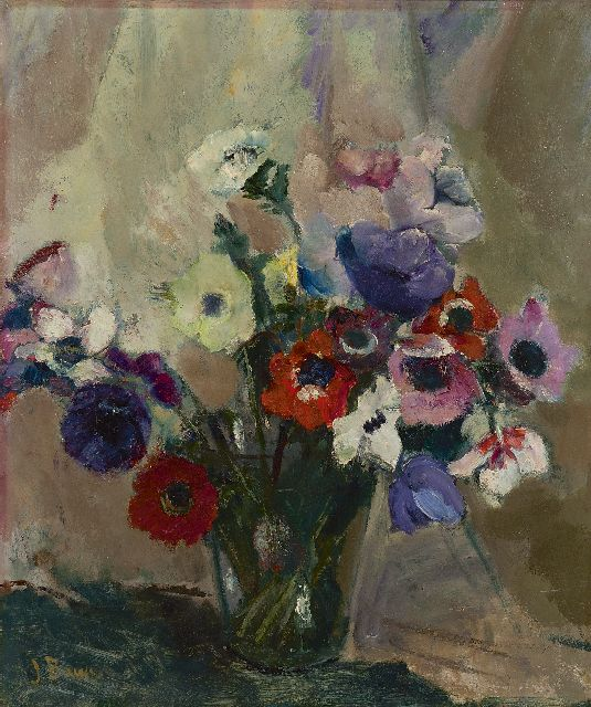 Bauer-Stumpff J.  | Anemones, oil on canvas 56.9 x 48.0 cm, signed l.l.
