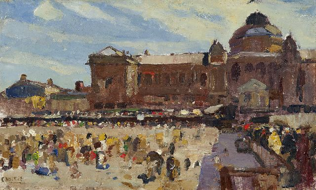Noltee B.C.  | A view of the Kurhaus, Scheveningen, oil on canvas laid down on board 28.4 x 47.9 cm, signed l.l.
