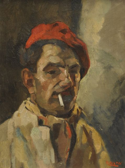 Noltee B.C.  | A self-portrait, oil on canvas 40.7 x 30.5 cm, signed l.r.