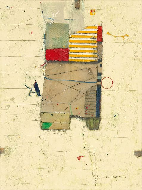 Cole Morgan | Starter PH-2, mixed media on canvas, 24.2 x 18.3 cm, signed l.r. and dated '92