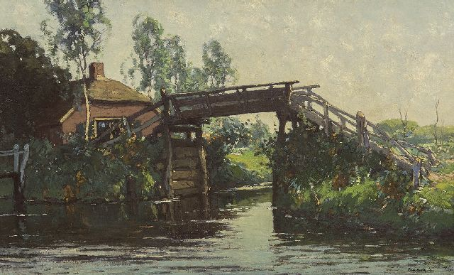 Paul Bodifée | The Oude Brug, Giethoorn, oil on canvas laid down on panel, 41.0 x 64.7 cm, signed l.r.