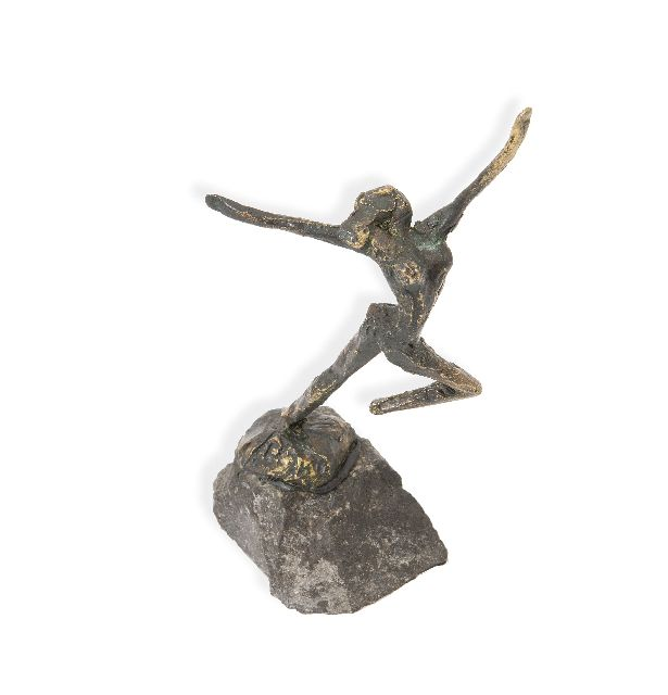 Bakker W.F.  | Olympic dance, bronze 10.0 cm, signed on the base