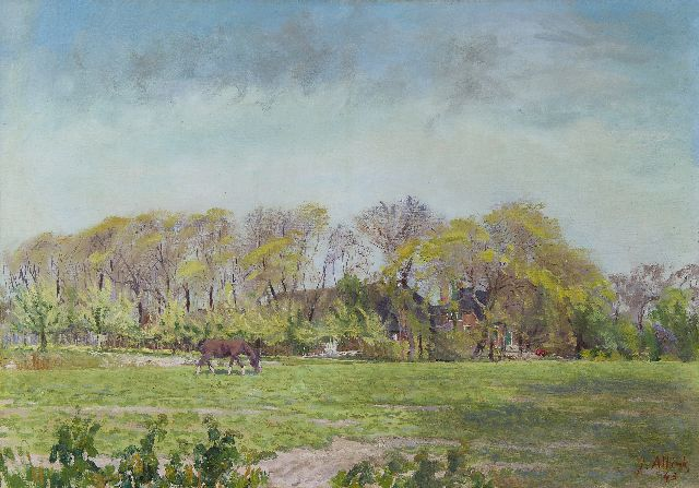 Jan Altink | The farm 'Huninga' near Pieterburen, oil on canvas, 50.0 x 70.6 cm, signed l.r. and dated '43