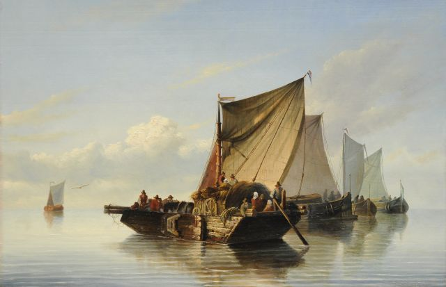 Antonie Waldorp | A river landscape with sailing ships, oil on panel, 47.5 x 72.6 cm
