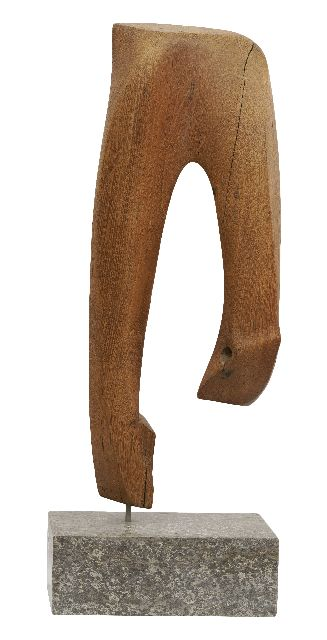 Commandeur W.  | Untitled, wood 60.5, signed with initials on the back and dated 1951