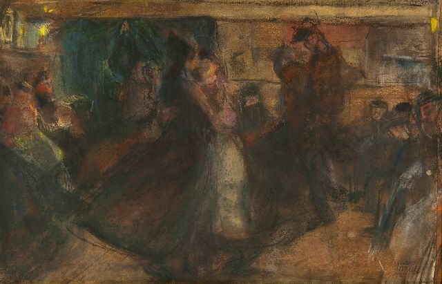 Isaac Israels | Dance hall on the Zeedijk, pastel on paper, 35.5 x 54.0 cm, signed l.r. and painted ca. 1892-1893