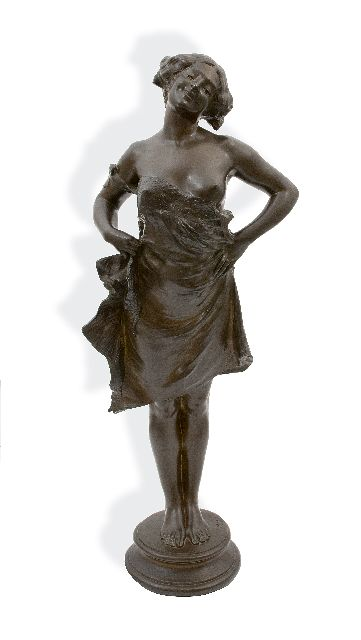 Lorieux J.A.P.  | Girl, bronze 86.5 x 27.0 cm, signed on the base