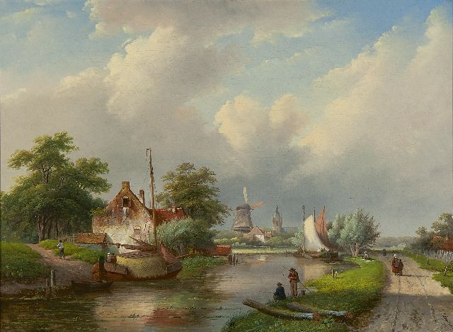 Jan Jacob Spohler | A river landscape in summer, oil on canvas, 59.3 x 80.3 cm, signed l.r. and dated '59