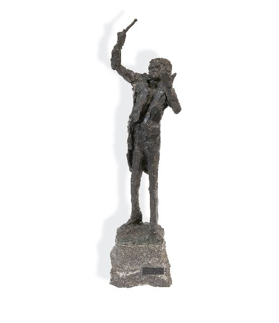 Jits Bakker | The conductor, bronze, 41.0 x 15.0 cm, signed on the base