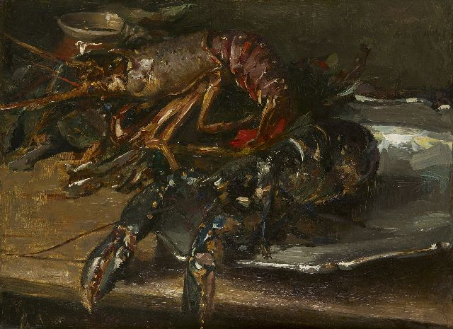 Albert Roelofs | Lobsters, oil on canvas, 44.4 x 60.3 cm, signed u.r. and painted ca. 1896