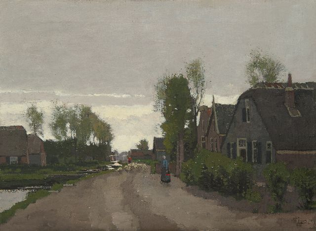 Derk Wiggers | A view of Noorden, oil on canvas, 48.9 x 65.3 cm, signed l.r.