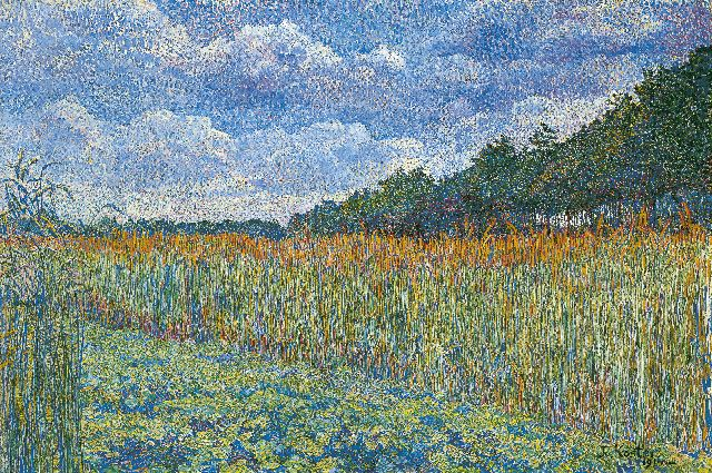Jo Koster | Cornfield, oil on canvas, 42.5 x 62.6 cm, signed l.r. and dated 1914