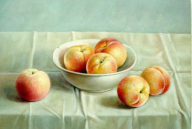 Andras Gombar | Peaches, oil on panel, 30.0 x 40.0 cm, signed l.r.