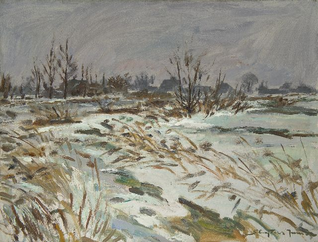 Sluijters jr. J.  | Thaw, Loenersloot, oil on canvas 60.1 x 80.2 cm, signed l.r.