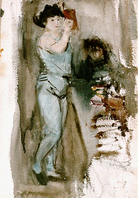 Israels I.L.  | The dancer, watercolour on paper, 52.5 x 36.5 cm, signed on the reverse