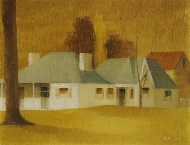 Atkins D.  | Firholme, Parramatta (Australia), oil on board 17.4 x 22.7 cm, signed l.r.